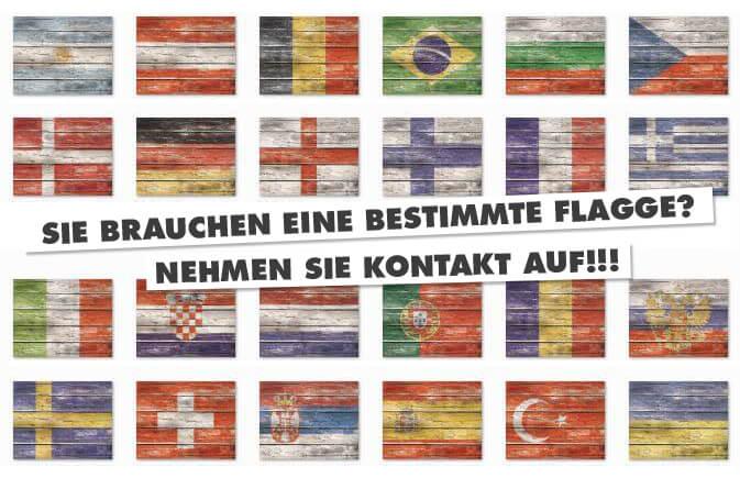 National Flaggen als FOTOBODEN Tischauflage