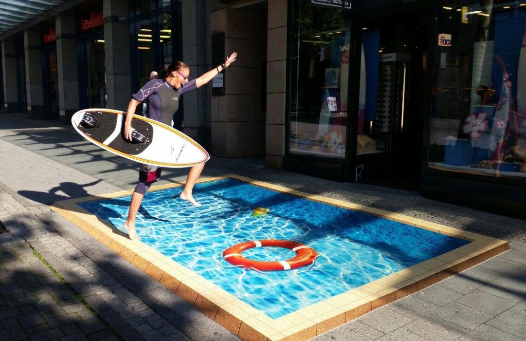 3D Swimmingpool Printed Floorminder