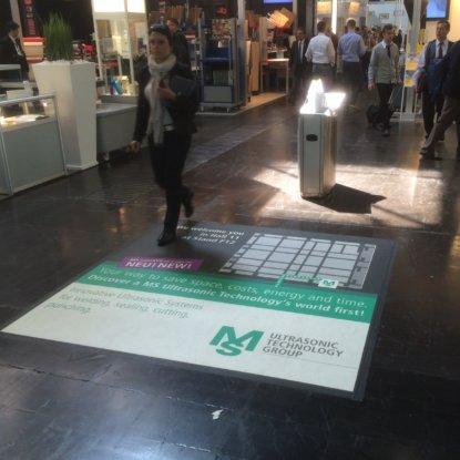 Bodenwerbefläche Messe Düsseldorf