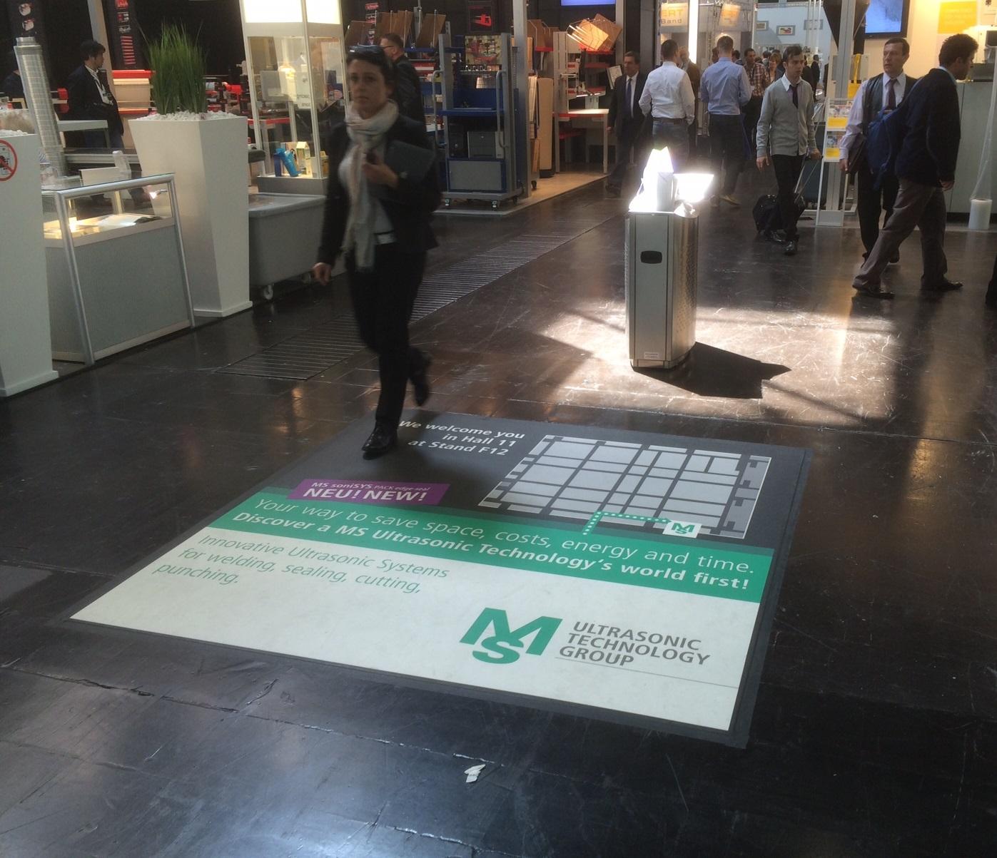 Floorminder – Messebodenwerbung
