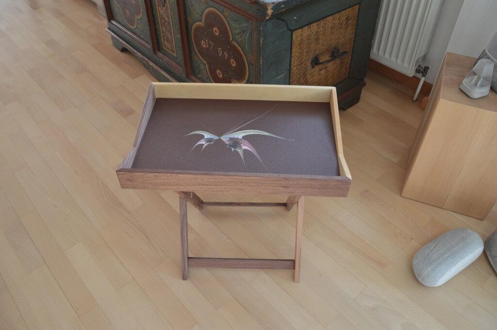 Produktidee: Holz-Tablett Und Tablett-Tisch