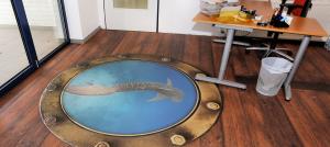 Fotoboden Hai Aquarium Büro