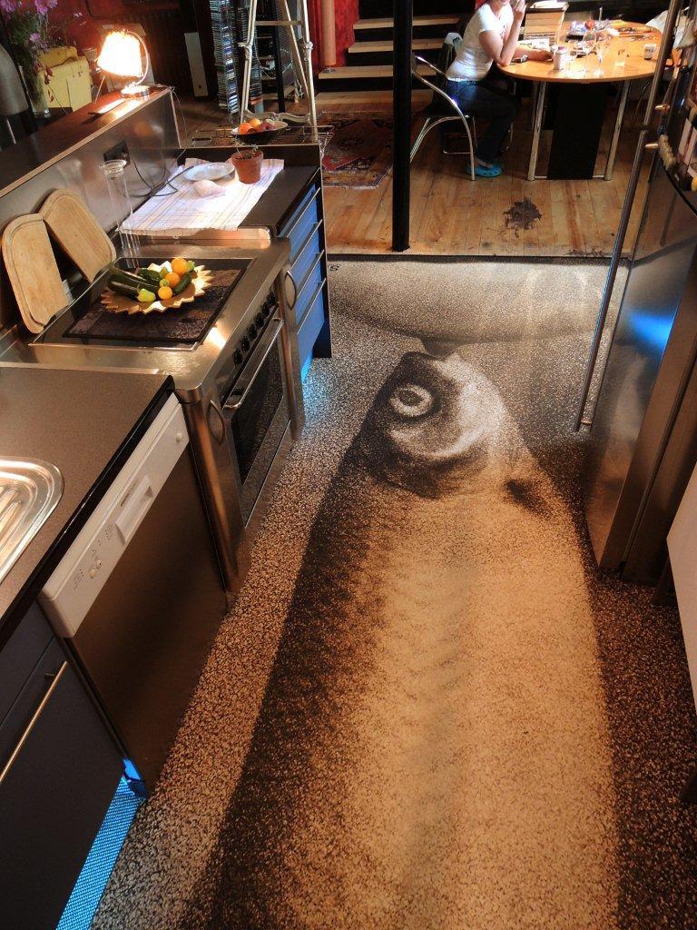 Fotodesign signage flooring