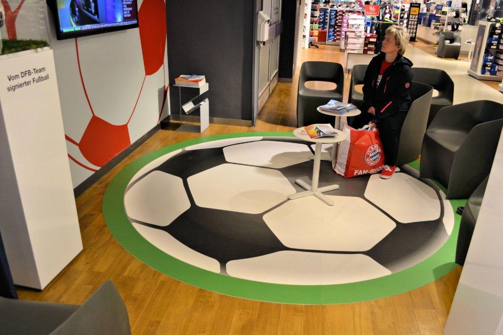Fußball Teppich Bei Vinylboden fotoboden