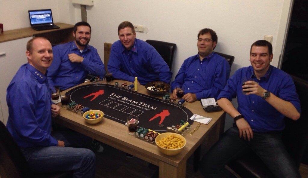 Pokermatten mit Logo Vinyl