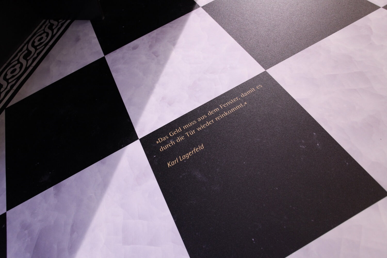 Fotoboden Ratschlag von Karl Lagerfeld
