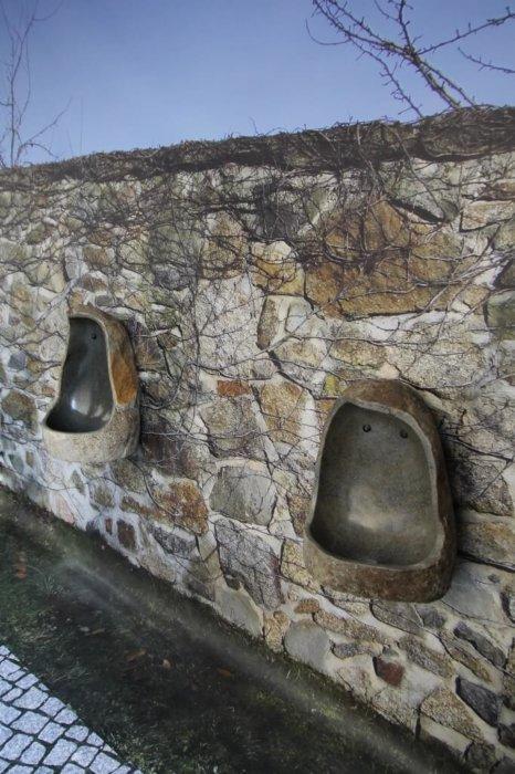 Naturstein Urinal Bedruckt Fotoboden