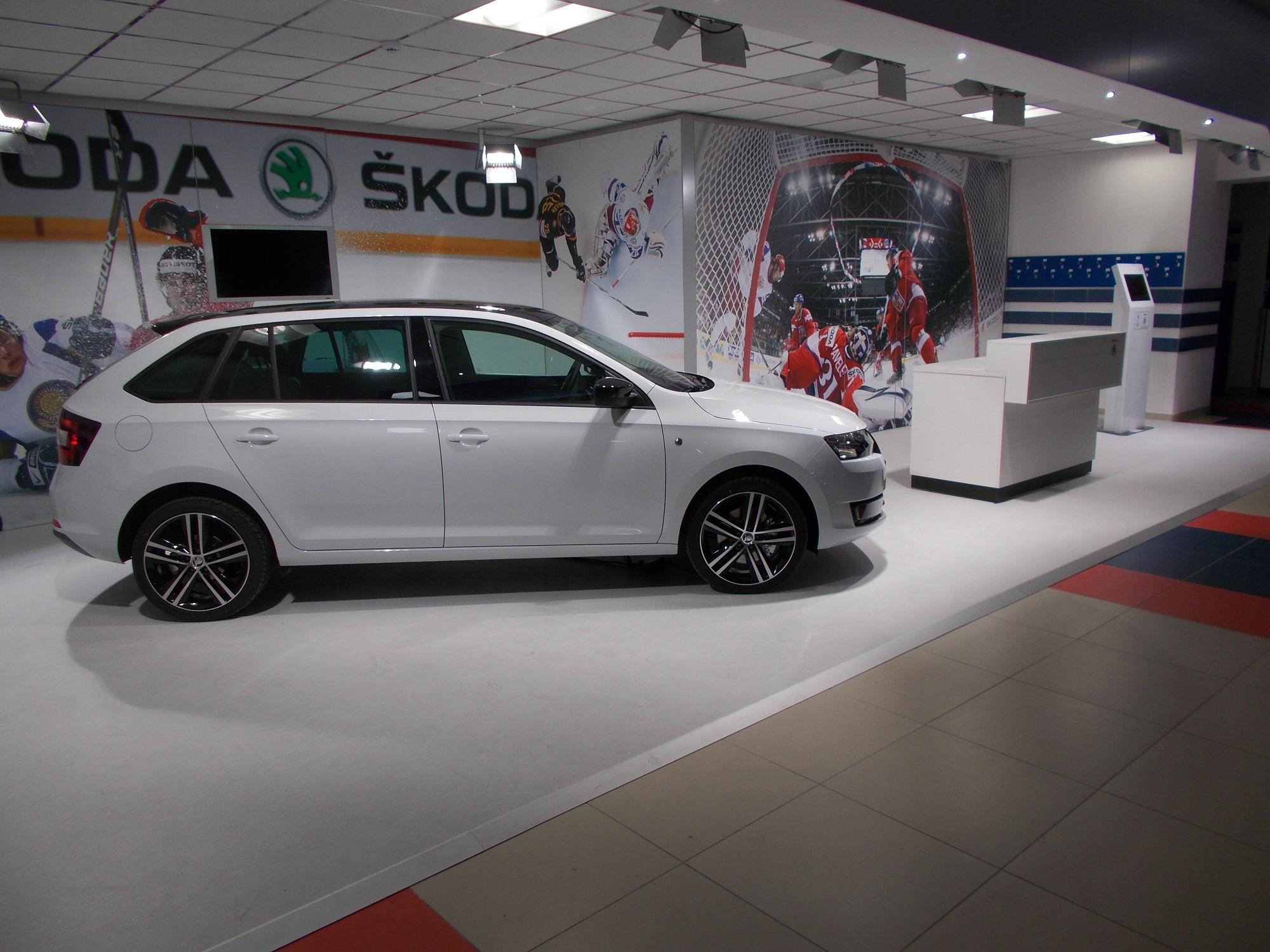Schneeboden Eisboden PVC Autoausstellung