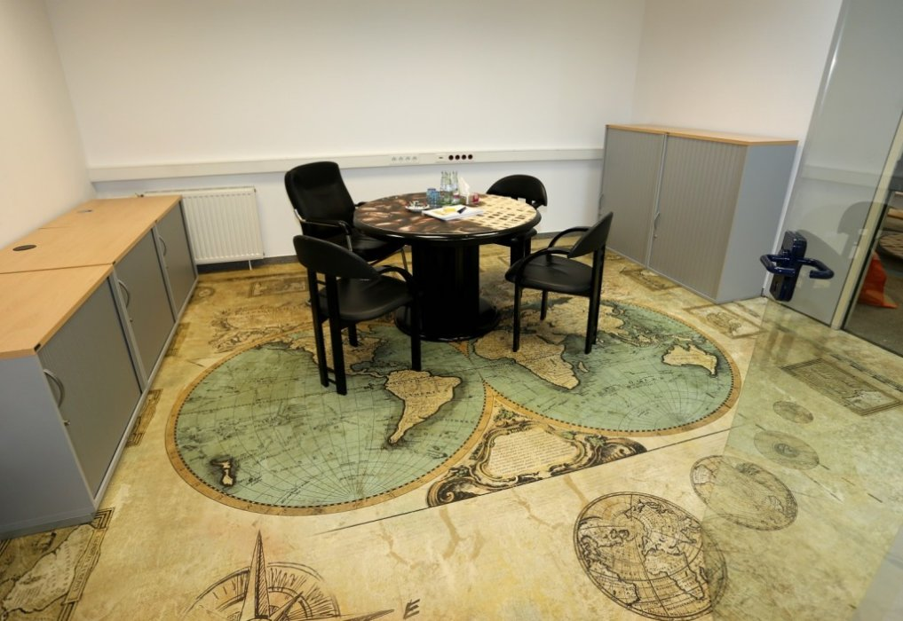 Showroom Bodendruckerei Printing Carpet