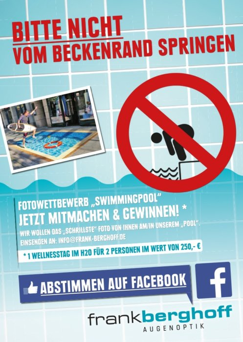 Werbeaktion 3D Schwimmbad Pool