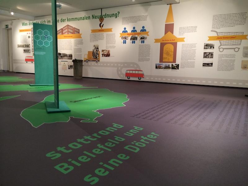 custom printed flooring Museumsboden Ausstellung