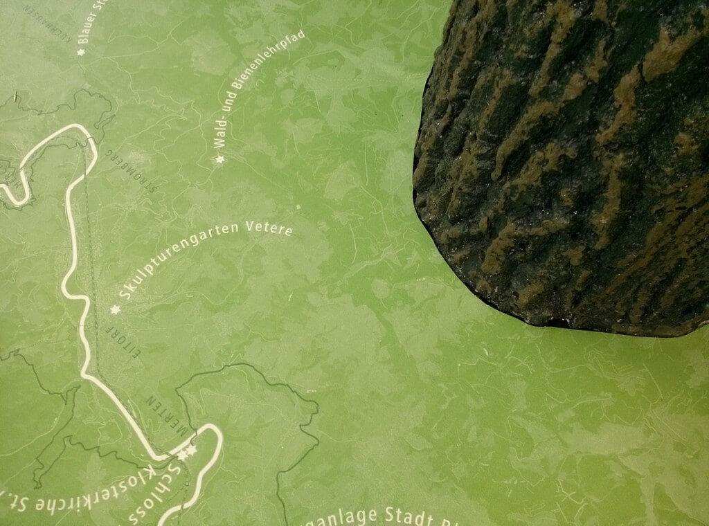 Landkarte In Wiesenoptik