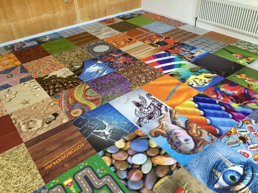 Fotoboden Mosaikdesign Boden