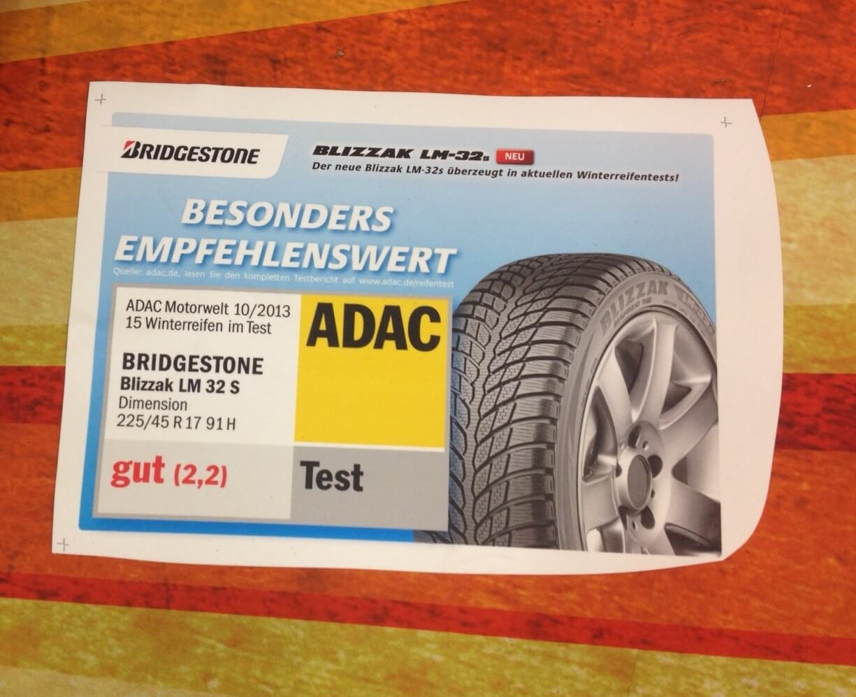 Bridgestone Auflage