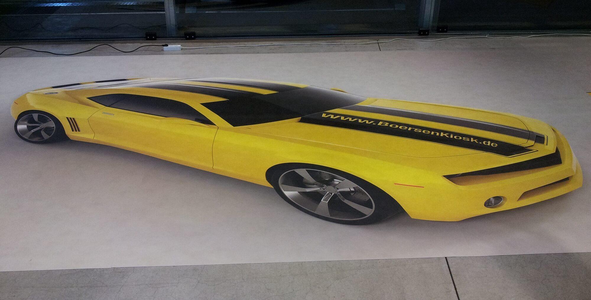 Camaro FOTOBODEN™ gelb Messeboden
