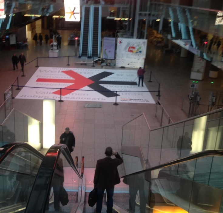 EuroShop Rolltreppe Bodenwerbung