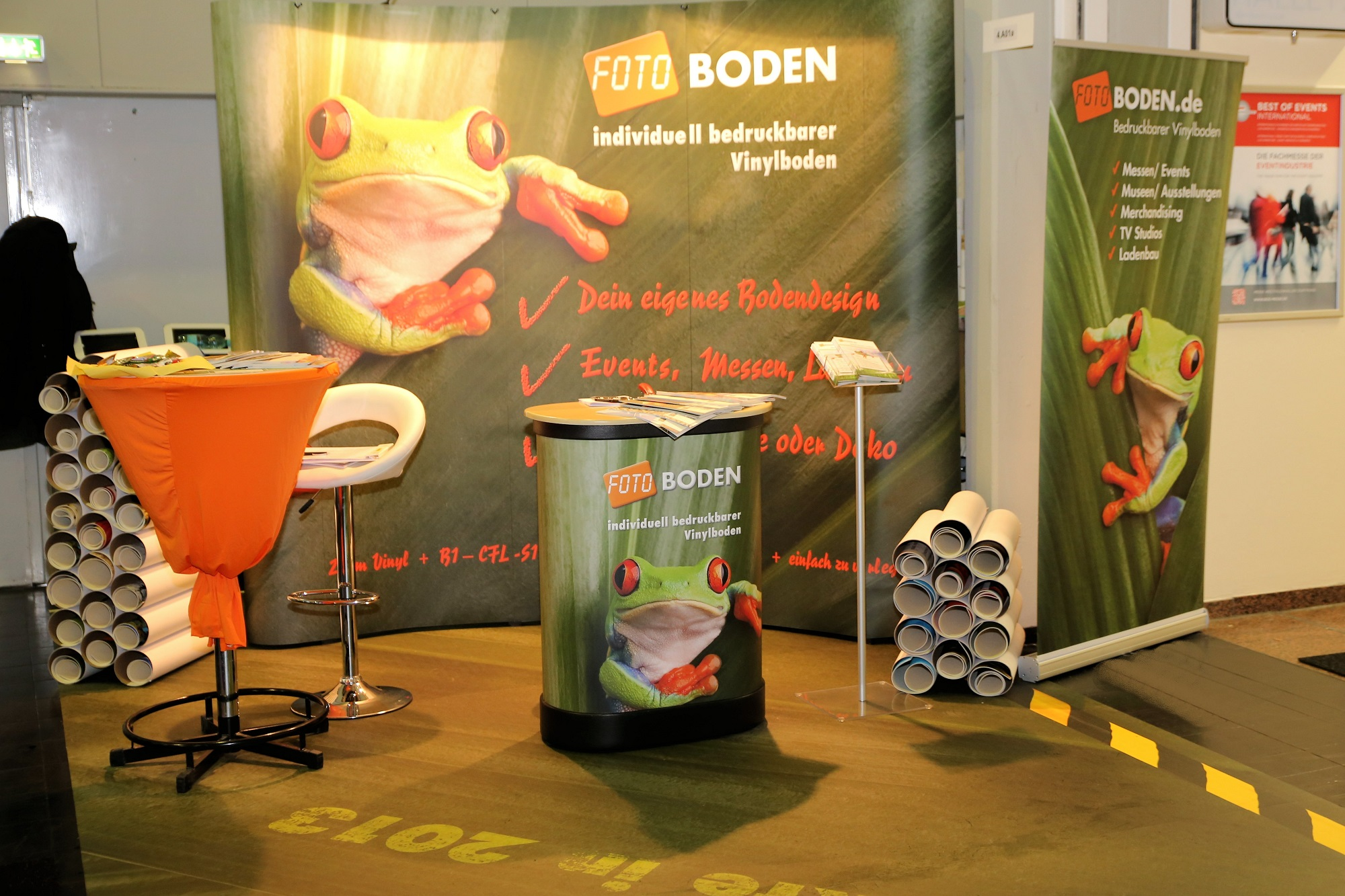 FOTOBODEN™ Messestand