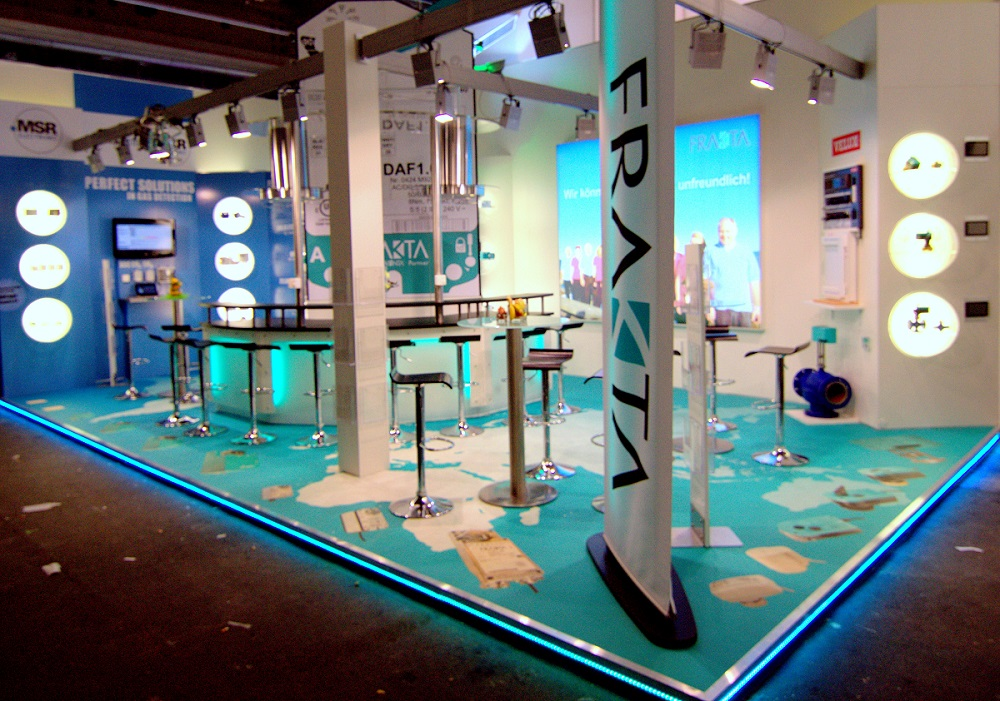 Frakta Messestand Messeboden Messedesign