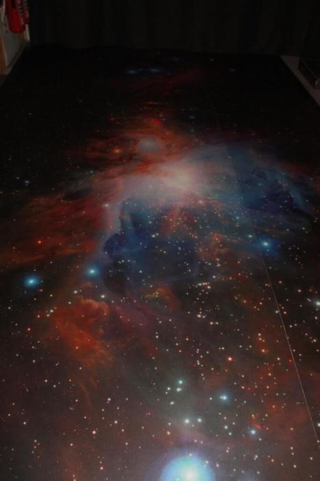 Galaxiebild Vinylboden
