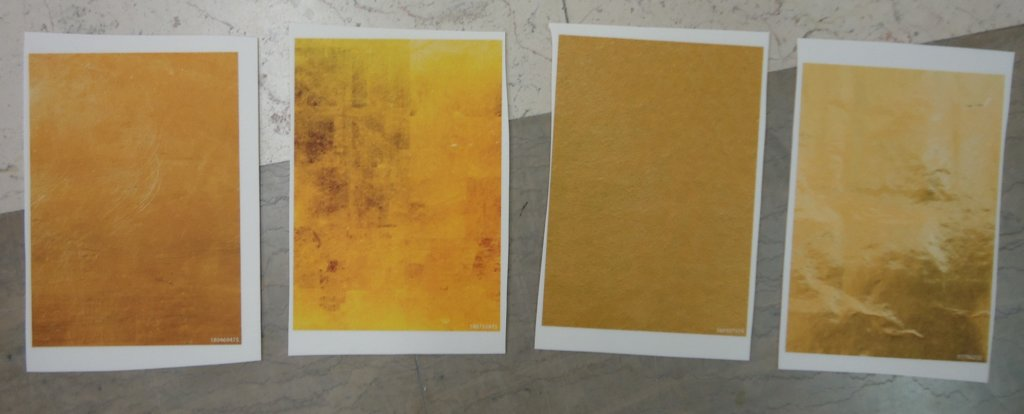 Goldener PVC Vinyl