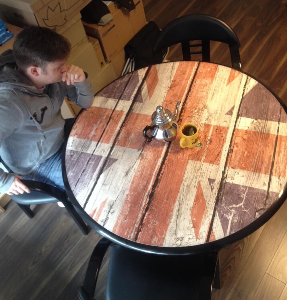 Große Tischauflage Fotoboden