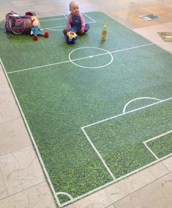 Kinder Fussballteppich Design Bodenbeläge Vinyl