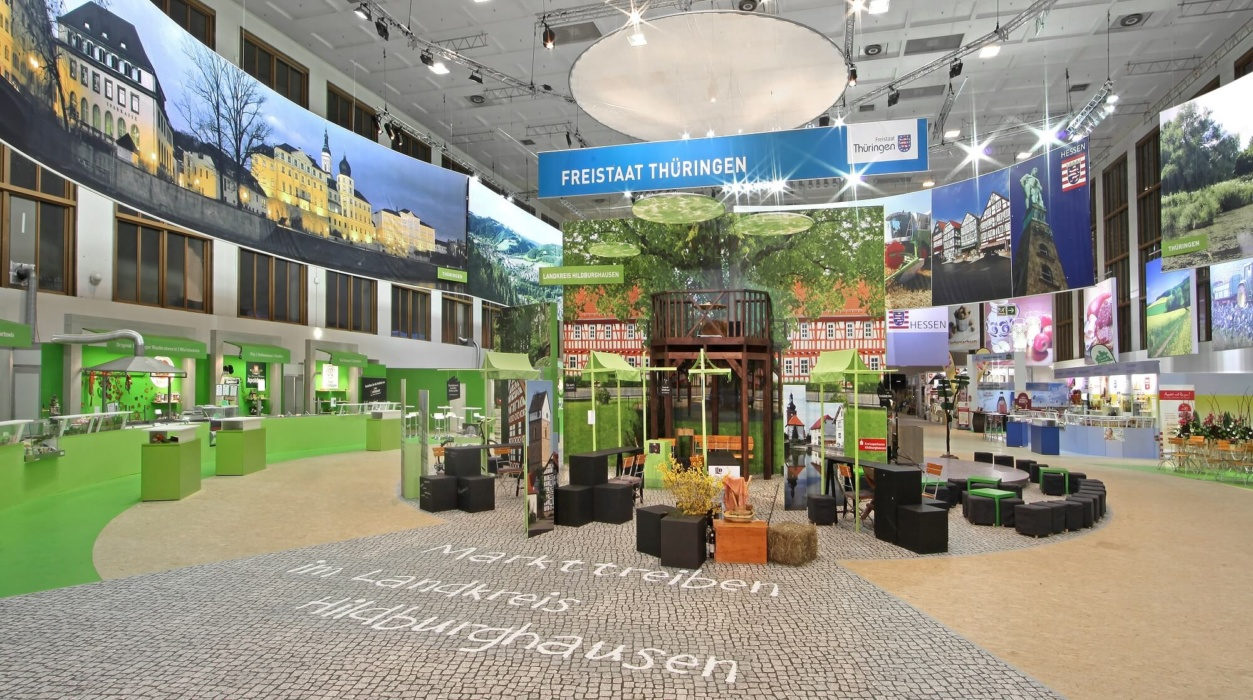 Kopfsteinplaster Messeboden GrüneWoche