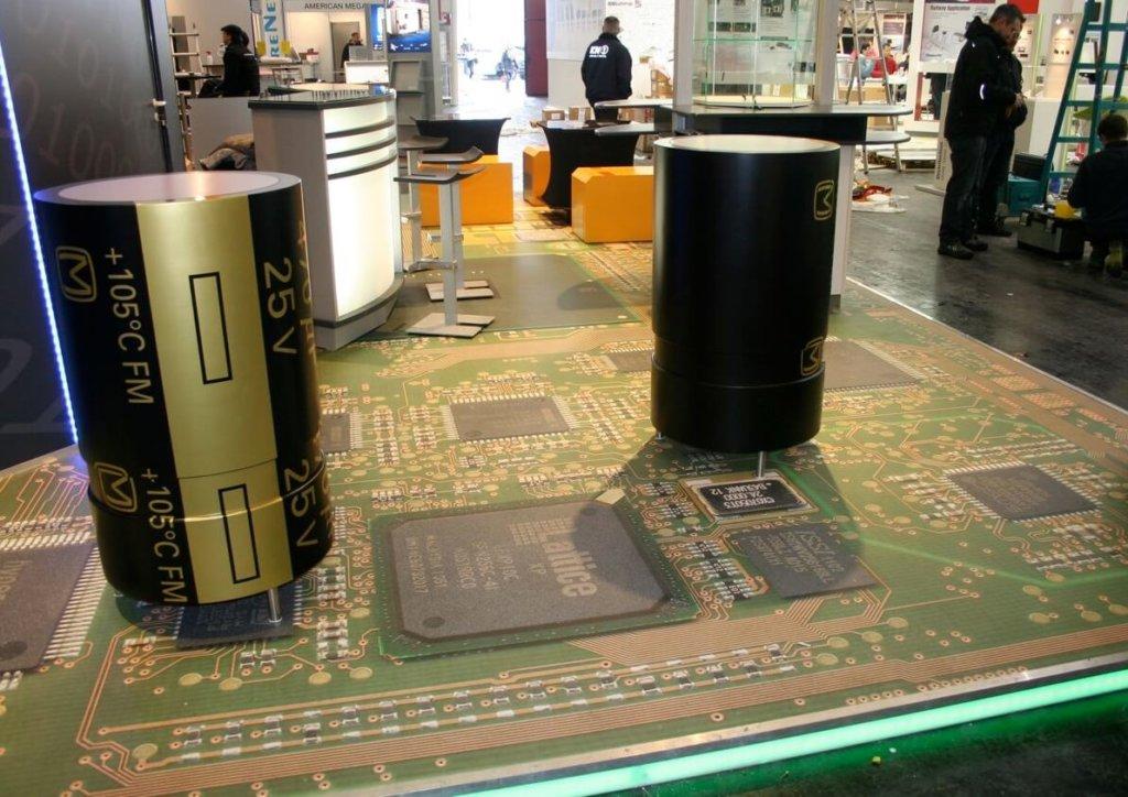 Messestand Platine Vinylboden Designbelag