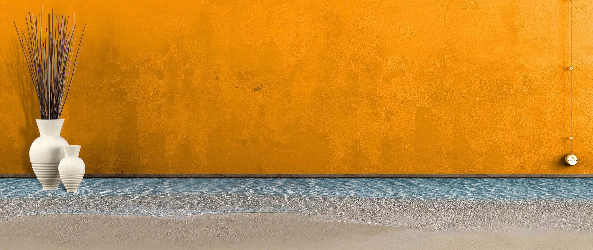 Sand mit Wand Vinyl Fußbodenbelag PVC