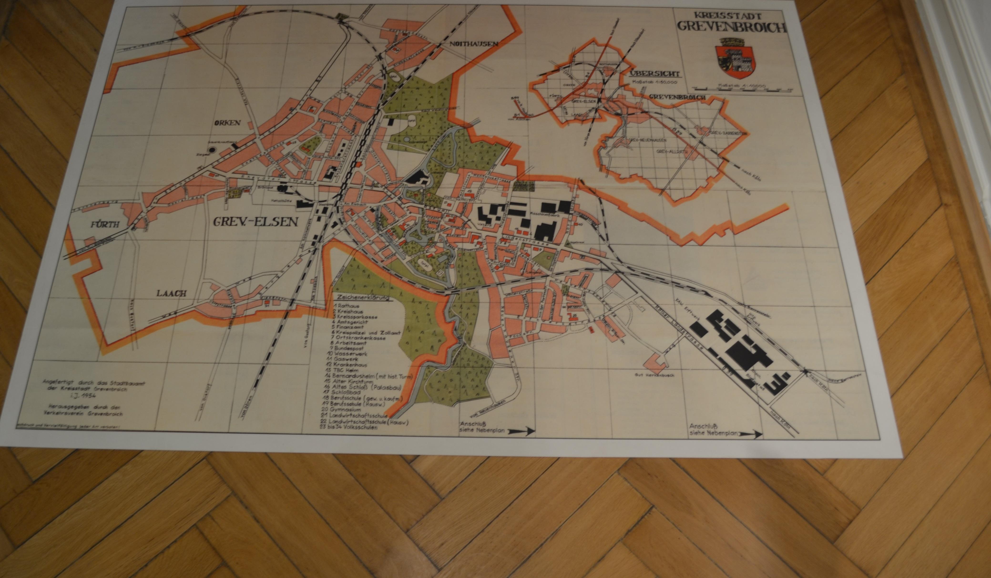 Stadtplan Als Bodenbild