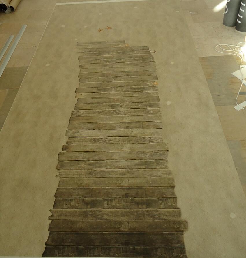 Strandboden Fotoboden design PVC Bodenbelag