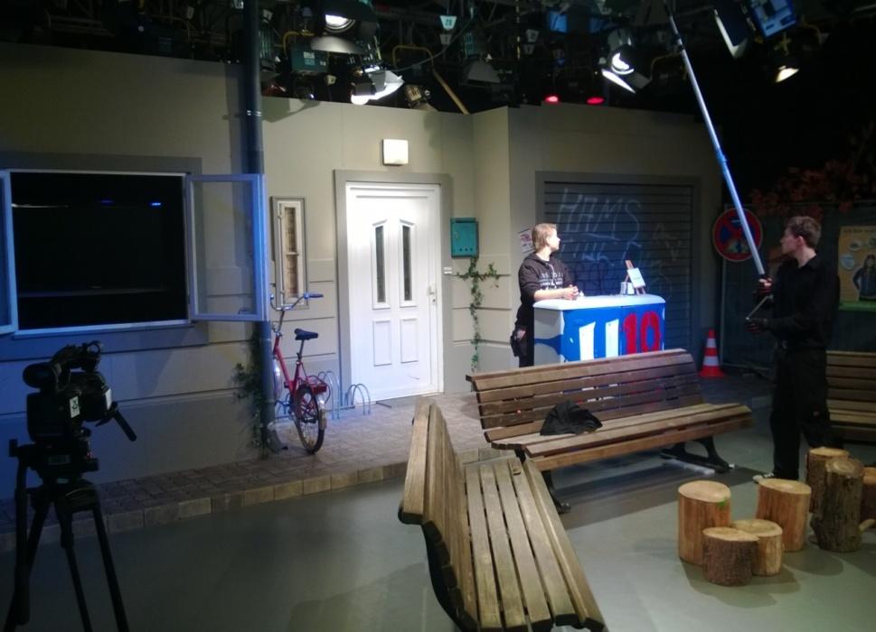TV Studioboden Pflastersteine