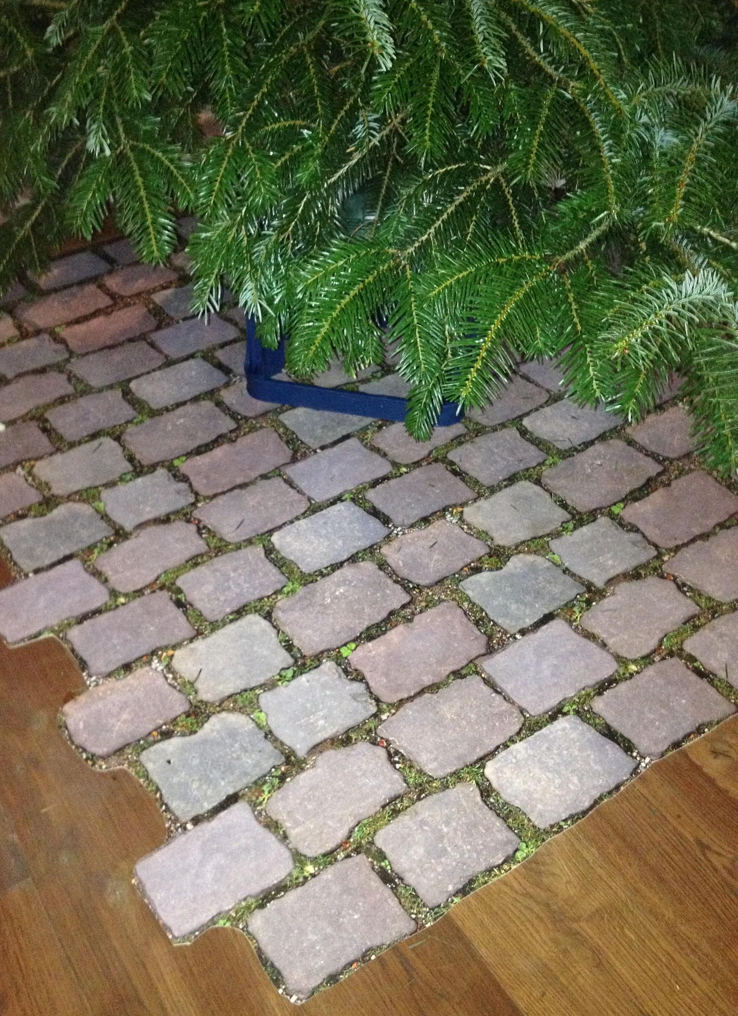 Unterlage Weihnachtsbaum