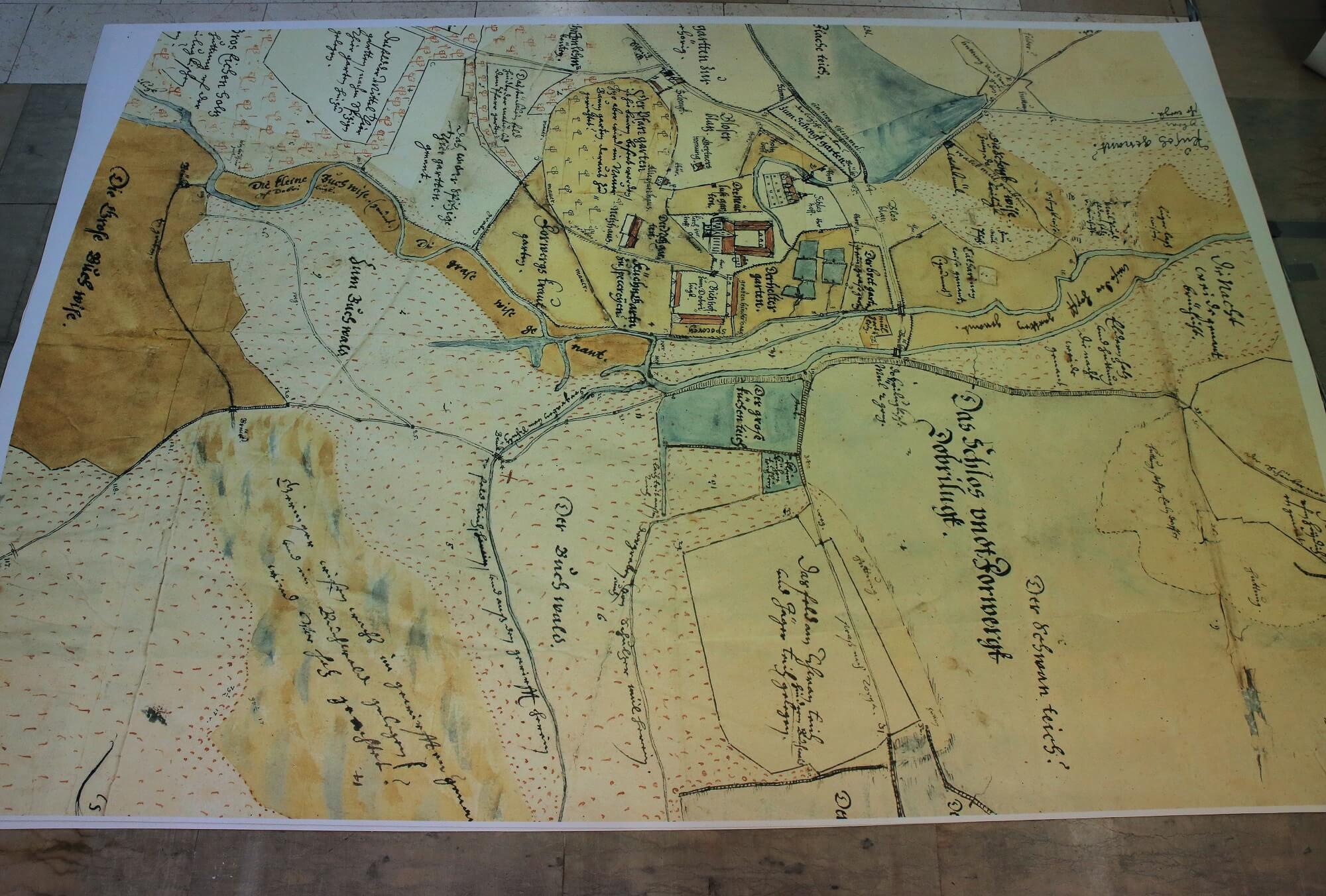 Alte Stadtkarte Als Boden