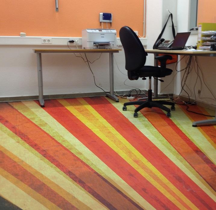 Bedruckter Büroboden