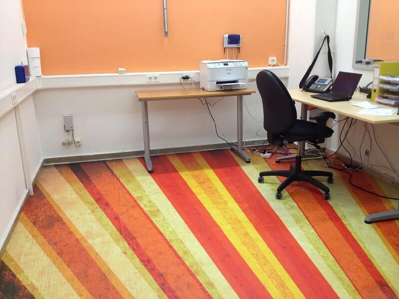 Individueller Büroboden FOTOBODEN™ Design PVC Bodenbelag