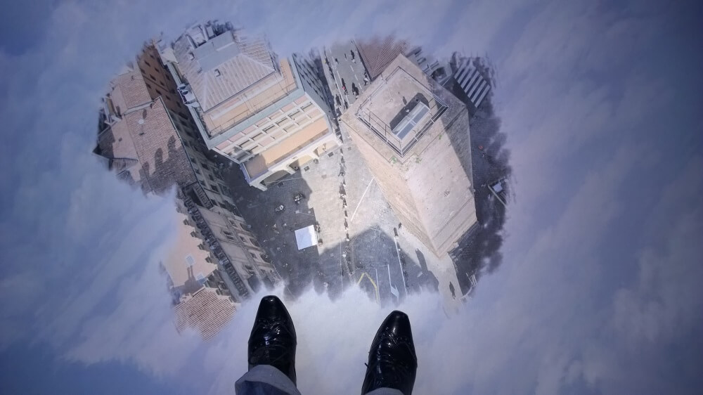 Wolkenzimmer Detail Boden Stadtansicht