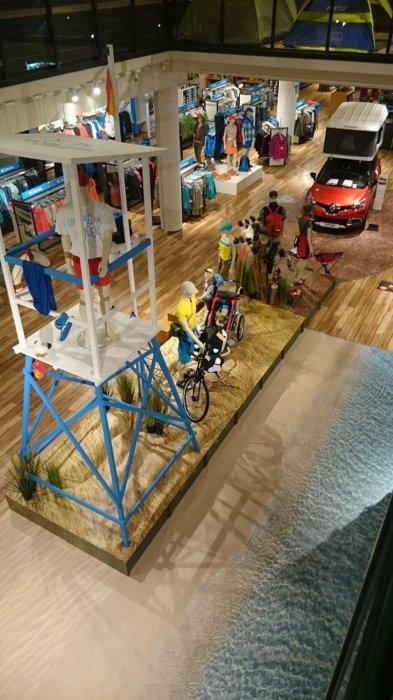 Hochsitz Dünen Boden Verkaufsfläche Bodengestaltung