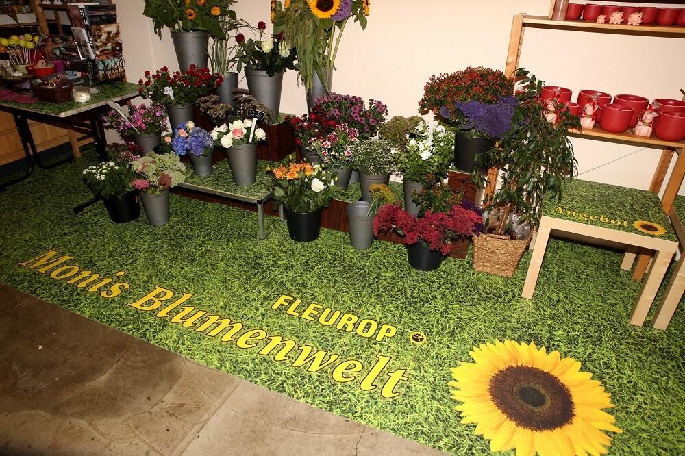 Boden Blumenladen wasserfest Design