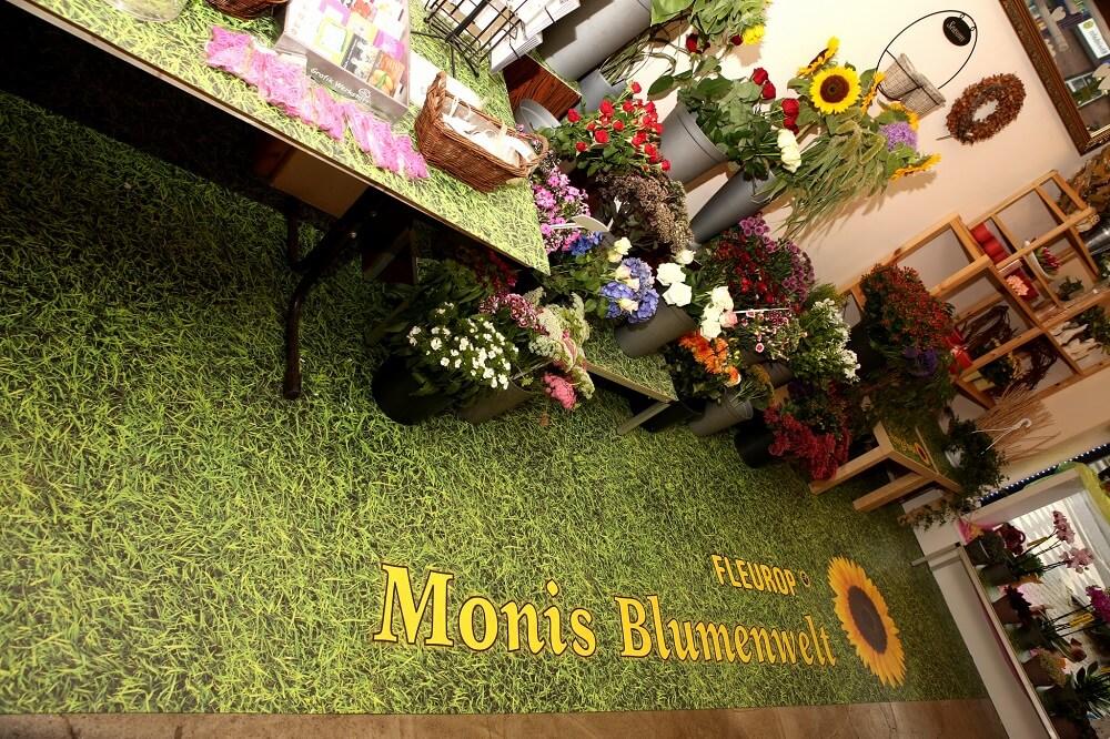 Blumenboden Gras Fleurop Verkaufsmatte