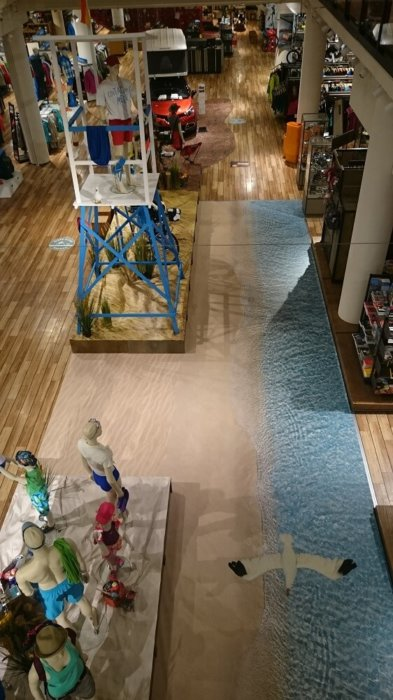 Sandstrand Wasser Düne Ladenbau Ladengestaltung