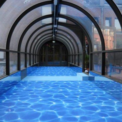Poolwasser Boden Vinyl