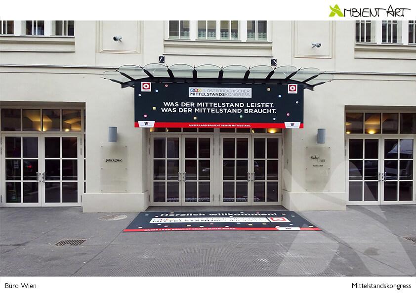 BüroWien Mittelstandskongress Promotion Outdoor Besucherführung