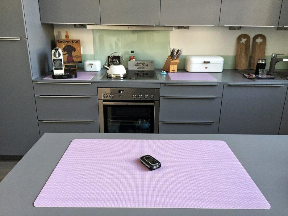 Schlabbermatte pink FOTOBODEN™ Vinyl