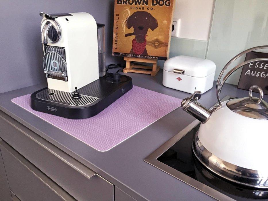 Unterlage für Kaffeemaschine aus Vinyl