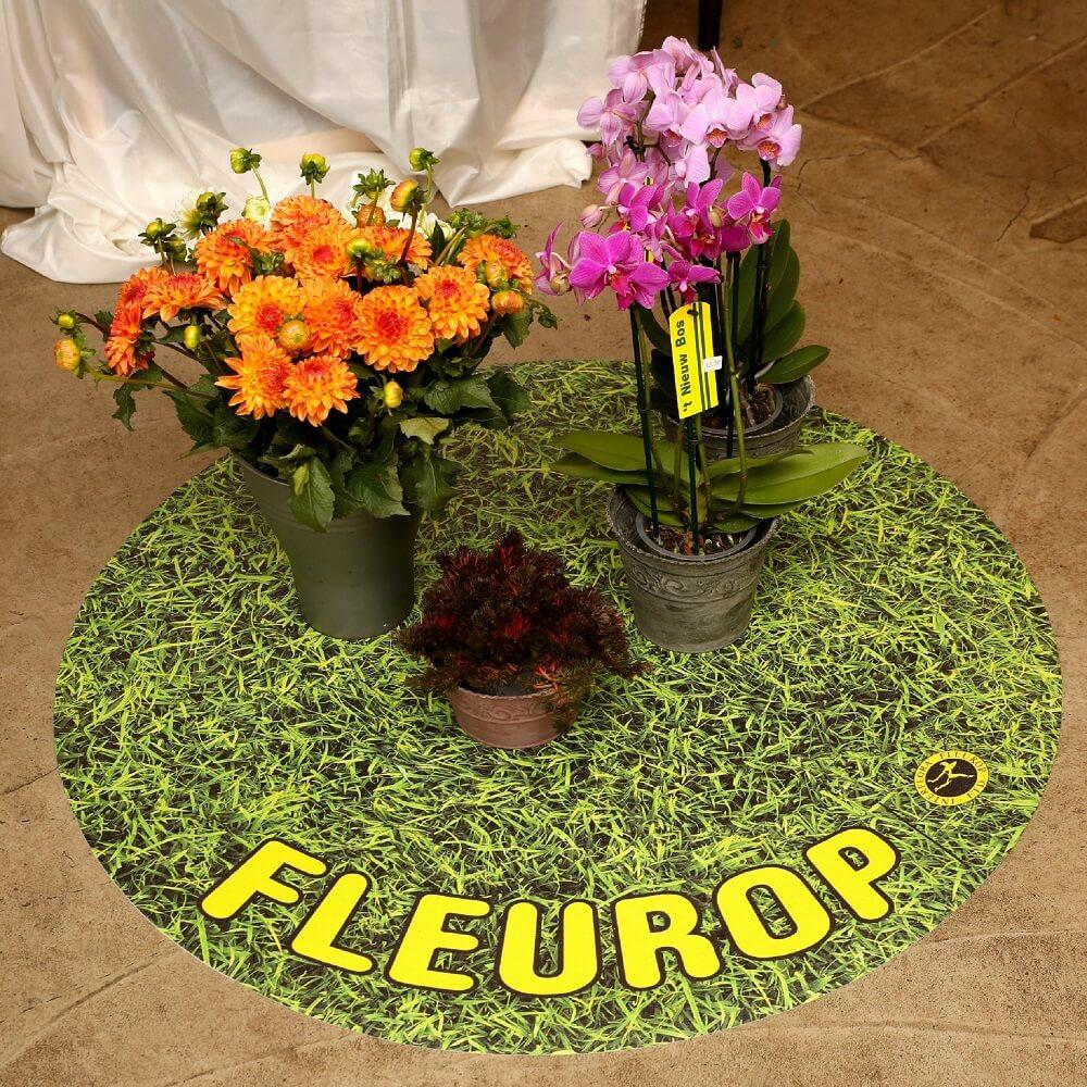 Werbematte Fleurop Kreis