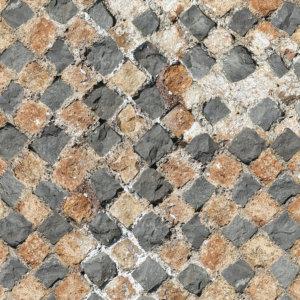 Vinylboden Kopfsteinpflaster Designbelag PVC Bahnenware