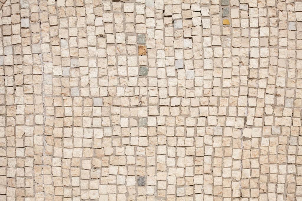 Kopfsteinpflaster white mosaic Vinylboden