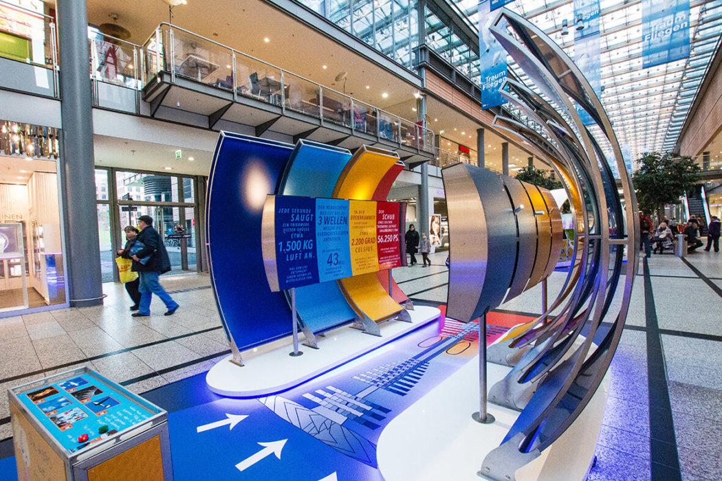 Airliners Ausstellungsdesign Einkaufszentrum