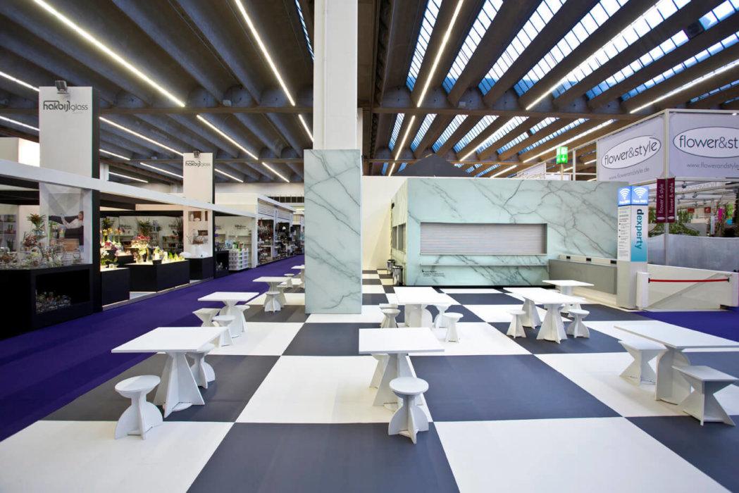 Ambiente Café Promotionstand Eventboden